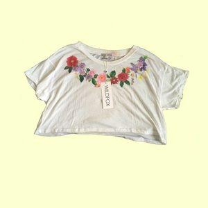 Wildfox Floral Sheer Crop Top